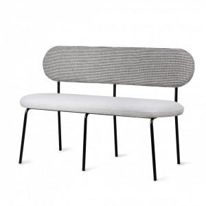 Banca gri/neagra din fier si placaj 126 cm Dining Table Bench HK Living