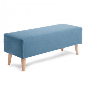Bancheta albastra cu picioare din lemn Lydia La Forma