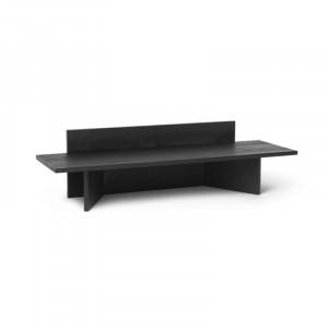 Bancheta neagra din lemn 120 cm Oblique Ferm Living