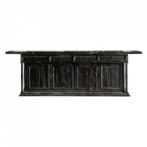 Bar negru din lemn de pin Counter Vical Home