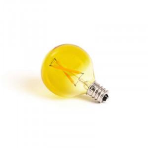 Bec galben cu filament LED E12 1W Mouse Lamp Seletti