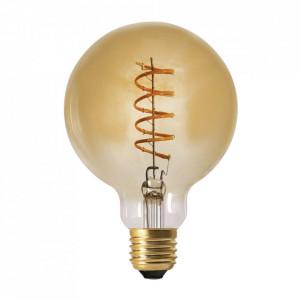 Bec maro chihlimbar cu filament LED E27 4W Globe Opjet Paris