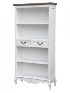 Biblioteca din lemn de plop si MDF 179 cm Rimini White Livin Hill