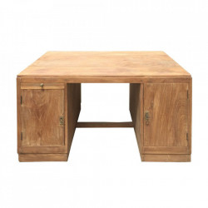 Birou maro din lemn de tec 80x118 cm Ordis Denzzo