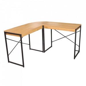 Birou maro/negru din MDF si metal 46x130 cm Studio Invicta Interior