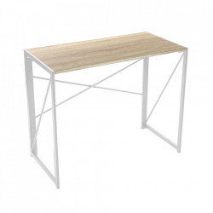 Birou pliabil alb/maro din lemn si metal 45x90 cm Tokyo Versa Home