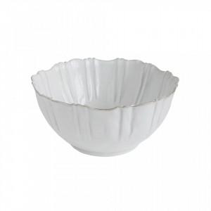 Bol alb din teracota 1,5 L Flora Creative Collection