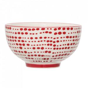 Bol alb/rosu din ceramica 13,5 cm Joy Bloomingville