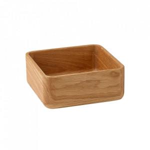 Bol maro din lemn 18x18 cm Unio Bolia