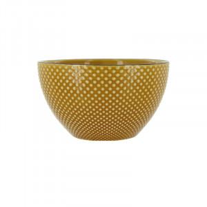 Bol ocru din ceramica 13 cm Kristi Avi LifeStyle Home Collection