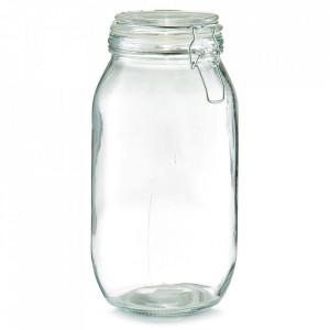 Borcan cu capac transparent din sticla 2000 ml Pulse Zeller