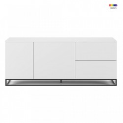 Bufet inferior alb din MDF si metal 160 cm Join TemaHome