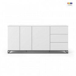 Bufet inferior alb din MDF si metal 200 cm Join TemaHome