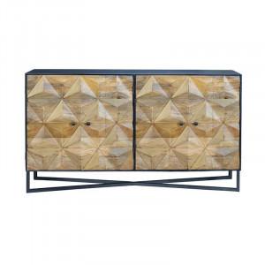 Bufet inferior maro/gri din lemn si metal 142 cm Xander Giner y Colomer