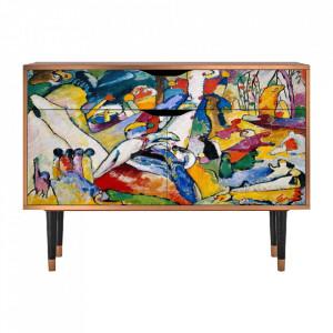 Bufet inferior multicolor din MDF si lemn 115 cm Improvisation 26 By Wassily Kandinsky Furny