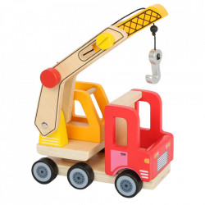 Camion de jucarie din lemn Crane Small Foot