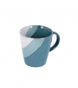 Cana alba/albastra din ceramica 9,5x10,1 cm Nelba La Forma
