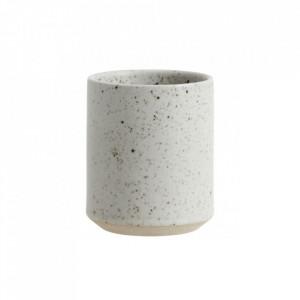 Cana bej nisipiu din ceramica 8x10 cm Grainy Coffee Nordal