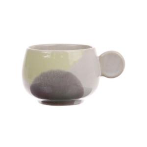 Cana cafea din ceramica galbena si mov Gallery HK Living