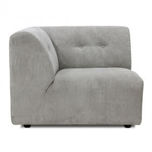Canapea crem Vint Corduroy Rib Modul A Stanga HK Living