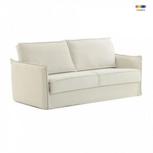 Canapea extensibila crem din bumbac si metal 182 cm Samsa Poli La Forma