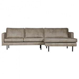 Canapea gri din nailon si poliuretan cu colt 300 cm Rodeo Right Be Pure Home