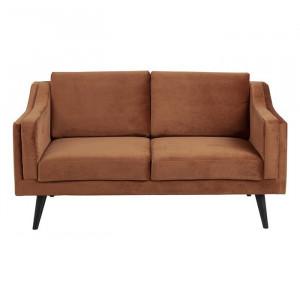 Canapea maro cupru/neagra din lemn si textil pentru 2 persoane Montreal Actona Company