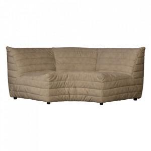 Canapea modulara de colt bej nisipiu din catifea 200 cm Bag Woood