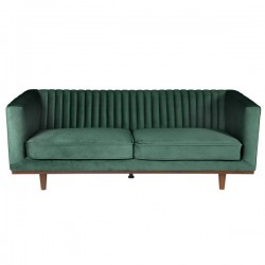 Canapea verde din catifea cu 3 persoane Dante Zago