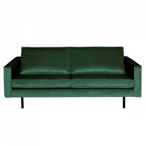 Canapea verde padure din catifea pentru 2,5 persoane Rodeo Short Be Pure Home