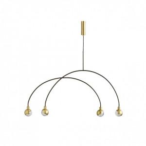 Candelabru alama cu 4 becuri Arc Mobile Brass 101 Copenhagen
