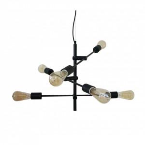 Candelabru negru cu 6 becuri Balanced Opjet Paris