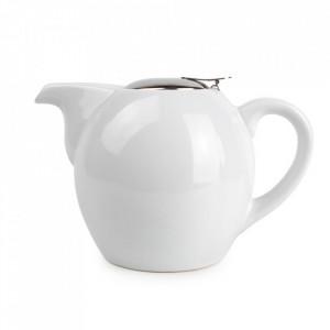 Ceainic alb din ceramica si inox 750 ml Camellia Aerts