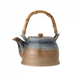 Ceainic multicolor din ceramica si bambus 1000 ml Aura Bloomingville