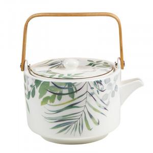 Ceainic multicolor din portelan 15x17 cm Amazon Santiago Pons