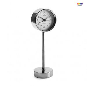 Ceas de masa argintiu/alb din metal 7,6x22,5 cm Chromed Alarm Clock Versa Home