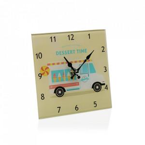 Ceas de masa patrat multicolor din sticla 15x15 cm Dessert Time Versa Home
