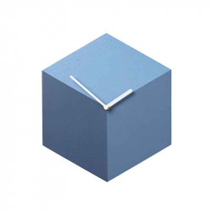 Ceas de perete hexagonal albastru/alb din lemn 26x30 cm Axis Blue Shades Bolia