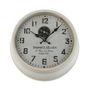 Ceas de perete rotund alb/negru din metal 36 cm Ster Versa Home