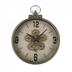 Ceas de perete rotund din MDF si metal 46x57 cm Conor Versa Home