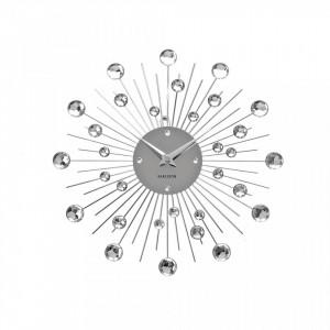 Ceas perete rotund din metal 30 cm Sunburst Present Time