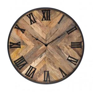 Ceas perete rotund din metal si lemn 60 cm Brett Richmond Interiors