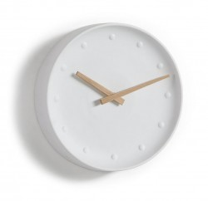 Ceas rotund alb din portelan 25 cm Wanu La Forma