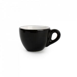 Ceasca neagra/alba din ceramica 100 ml Litho Mocha Aerts