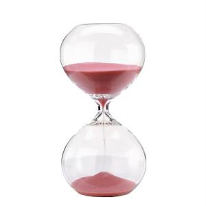 Clepsidra din sticla cu nisip roz Ball S Pols Potten