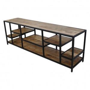 Comoda TV maro/neagra din lemn de mango 170 cm Levels HSM Collection
