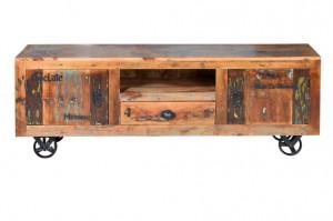 Comoda TV multicolora din lemn si fier 160 cm Verrier Giner y Colomer