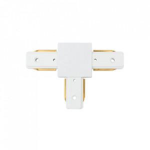 Conector electric alb din aluminiu si plastic Techno Track-System Markt MW Glasberg