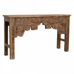 Consola maro din lemn 141 cm Dhuile Raw Materials