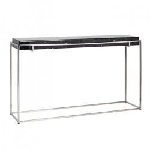 Consola neagra/argintie din sticla si inox 140 cm Dante Richmond Interiors